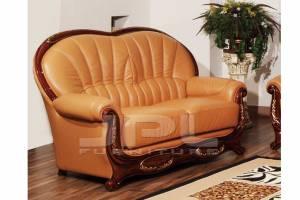 Кожаный диван А-103 двухместный без механизма