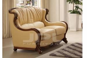 Кожаный диван А-105 двухместный без механизма