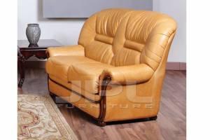 Кожаный диван А-99 двухместный без механизма