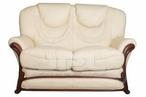 Кожаный диван Anna двухместный, цвет 22#