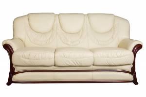 Кожаный диван Anna трехместный, цвет 22#