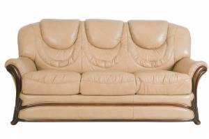 Кожаный диван Anna трехместный, цвет 86#