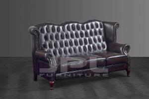 Кожаный диван В-273 трехместный без механизма