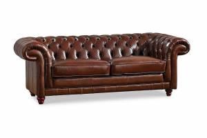 Кожаный диван В-288 двухместный без механизма, цвет 08#