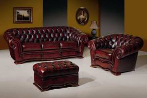 Кожаный диван Charles трехместный, цвет 10#