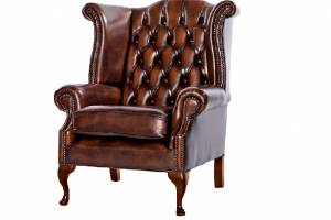 Кожаное кресло Karen с пуфом цвет 08