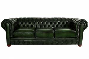 Кожаный диван Chester трехместный без механизма, цвет 09#