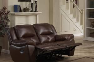 8004 Кожаный диван с механизмом- реклайнер  двухместный