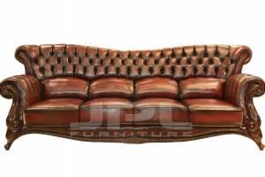Кожаный диван DCS 9004 четырехместный