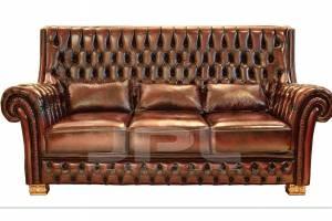 Кожаный диван DCS 9005 трехместный без механизма