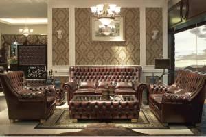Кожаный диван 9005 четырехместный  без механизма