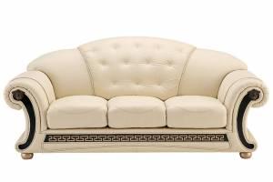 Кожаный диван Versace трехместный, цвет 17#