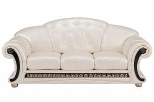 Кожаный диван Versace трёхместный, цвет 31#