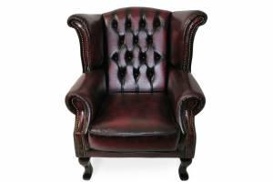 Кожаное кресло Karen с пуфом , цвет 10#
