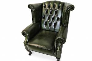 Кожаное кресло Karen с пуфом , цвет 09#