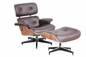 Кресло-шезлонг ( Eames Lounge Chair ) коричневое