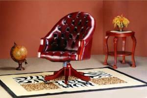 Кожаное кресло К-204