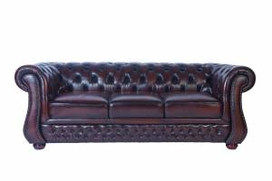 Кожаный диван Karen трехместный без механизма, цвет 08#