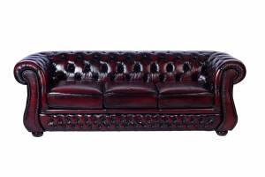 Кожаный диван Karen трехместный без механизма, цвет 10#