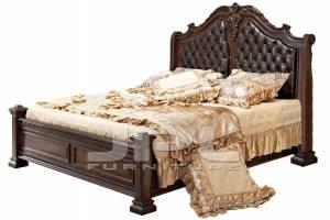 Кровать 8180 с кожаным изголовьем
