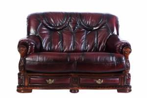Кожаный диван Oakman двухместный, цвет 10#