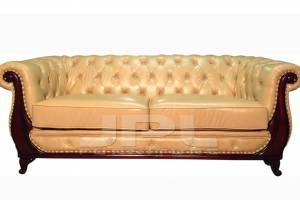 Кожаный диван Oliver трехместный без механизма