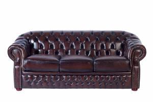 Кожаный диван Paul трехместный с механизмом, цвет 08#