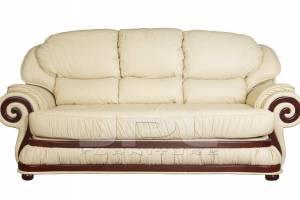 Кожаный диван Swirl трехместный, цвет 22#