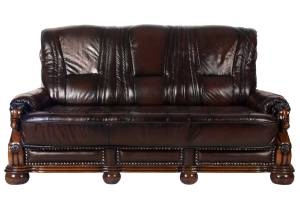Кожаный диван Ceasar трехместный (с механизмом), цвет 08#