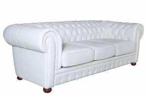 Кожаный диван Chester трехместный без механизма, цвет 05#