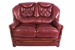 Кожаный диван Maria двухместный (с механизмом)