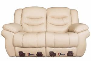 8001 Кожаный диван с механизмом- реклайнер  двухместный, цвет 17#