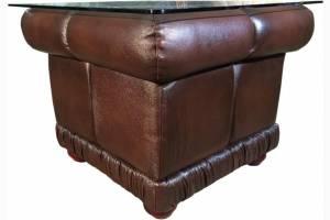 Кожаный стол Т-035 квадратный