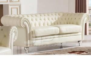 Кожаный диван В-287 трехместный без механизма