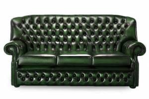 Кожаный диван Vermont трехместный без механизма, цвет 09 #