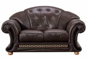 Кожаный диван Versace двухместный, цвет 37#