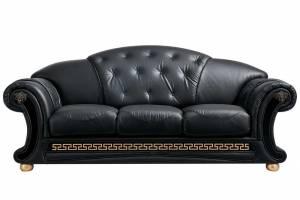 Кожаный диван Versace трёхместный, цвет 19#