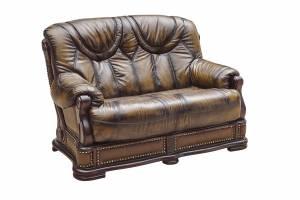 Кожаный диван Florance двухместный с механизмом, цвет 50#
