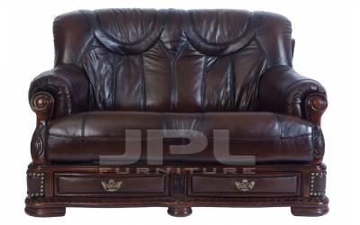 Кожаный диван Oakman двухместный, цвет 08#