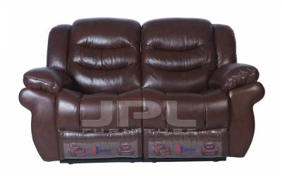 8001 Кожаный диван с механизмом-реклайнер  двухместный