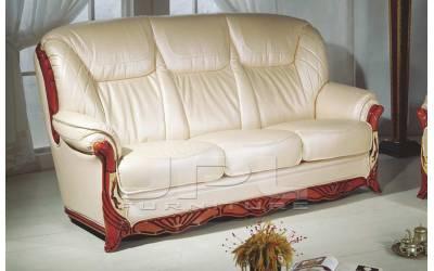 Кожаный диван В-167 трехместный