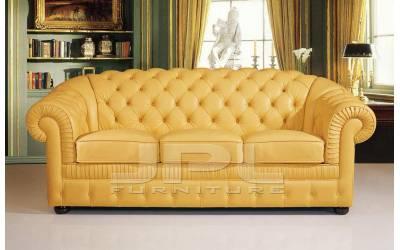 Кожаный диван В-285 трехместный без механизма