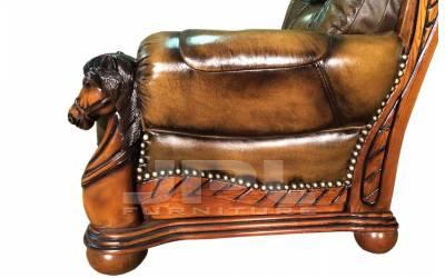 Кожаный диван Ceasar двухместный