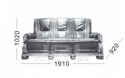 Кожаный диван Caesar трехместный  (с механизмом), цвет 50#