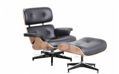 Кресло-шезлонг ( Eames Lounge Chair ) черное