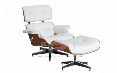 Кресло-шезлонг ( Eames Lounge Chair ) белое