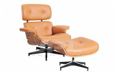 Кресло-шезлонг ( Eames Lounge Chair ) рыжее