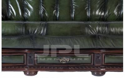Кожаный диван Oakman трехместный, цвет 09#