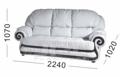 Кожаный диван Swirl трехместный, цвет 88#