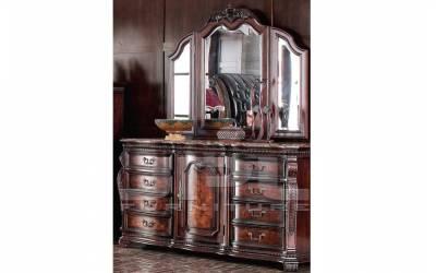 Трюмо (комод с зеркалом) 2180 с мраморной столешницей